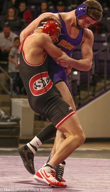 184: Corey Abernathy (MSU) Dec. over Tyree Overton (SCS) 2-0 | MSU 10-9 SCS - 180203amk0157