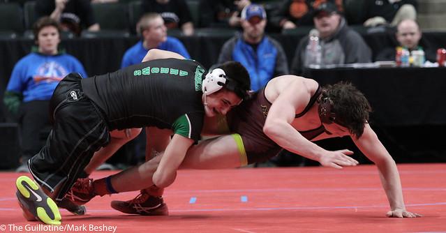 182A Quarterfinal - Garrett Ploeger (Pipestone Area) 37-9 won by decision over Michael Nelson (Dover-Eyota) 37-6 (Dec 11-5) - 180302cmk0053