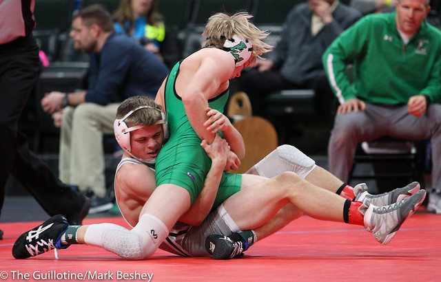 Quarterfinal - Tyler Shackle (Scott West) 40-12 won by decision over Afton Kaping (Litchfield) 41-6 (Dec 8-6) - 180302amk0011