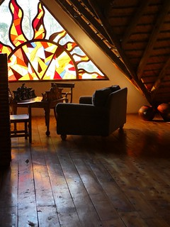 upstairs in the lodge