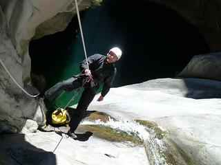 Nico Cyprien canyoning, Fleur Jaune, La Réunion