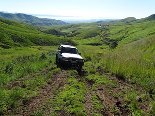 Up Ongeluksnek, from South Africa into Lesotho