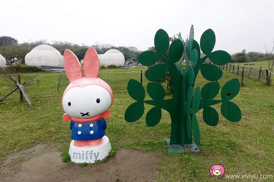 [新北市旅遊]Miffy米飛兔主題文化公園~十三行博物館附近的八里無料親子景點.Miffy裝置藝術 @VIVIYU小世界