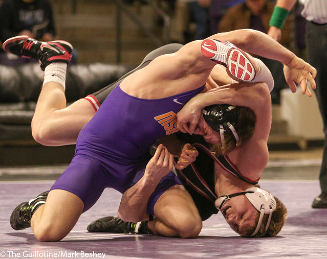 174: #7 Zach Johnston (MSU) Dec. over #3 Kolton Eischens (SCS) 11-5 | SCS 9-7 MSU - 180203amk0113