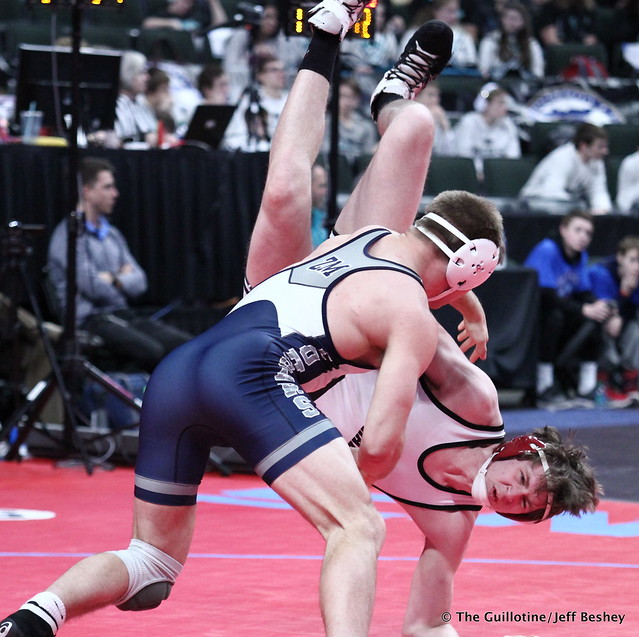 182 - Caden Steffen (Zumbrota-Mazeppa) over Kevin Tierney (Ottertail Central) Fall 4:35. 180301AJF0105