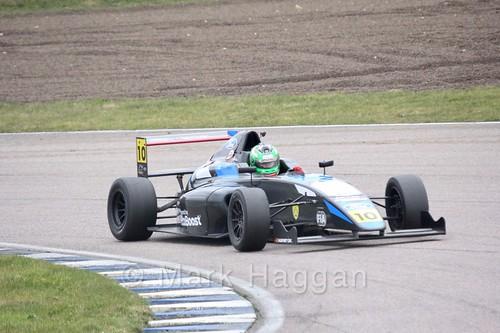 Paavo Tonteri in British F4 pre-season testing  2018
