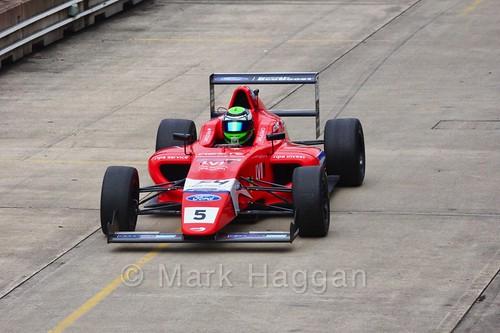 Patrik Pasma in British F4 pre-season testing 2018
