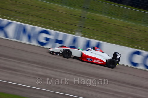 Lucca Allen in British F4 pre-season testing 2018