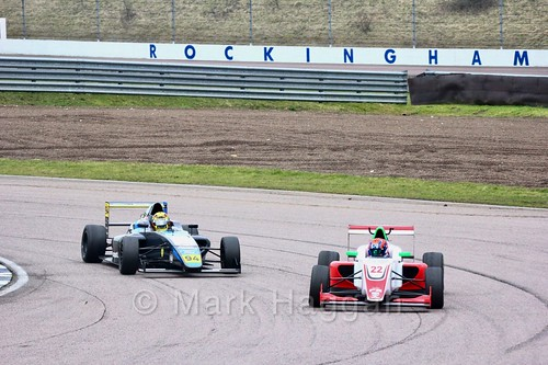 Paavo Tonteri in British F4 pre-season testing and Tom Gamble in British F3 pre-season testing 2018