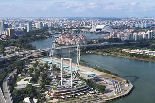 From top of Marina Bay Hotel, Singapore