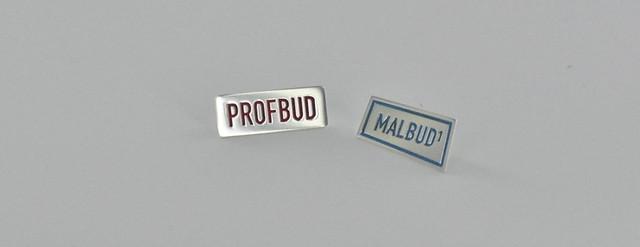 pin srebro+emalia malbud, profbud
