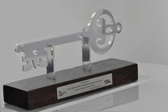 klucz pamiątkowy z aluminium chromowanego