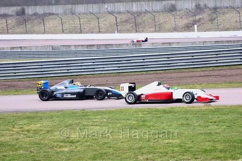 Sebastian Alvarez in British F4 pre-season testing and Tom Gamble in British F3 testing 2018