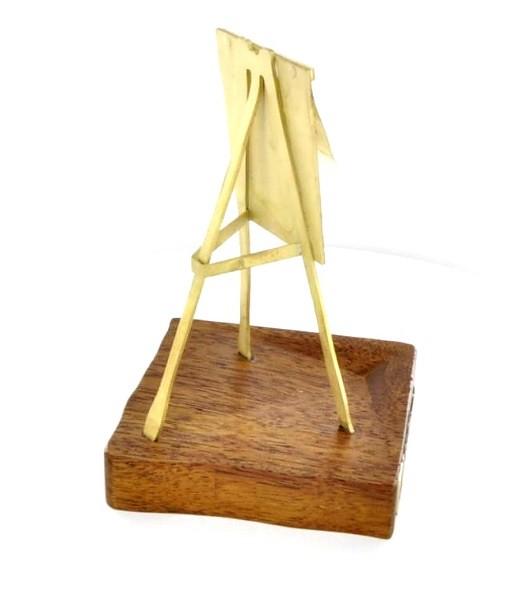 Statuetka dla PIFS, mosiądz i drewno mahoniowe