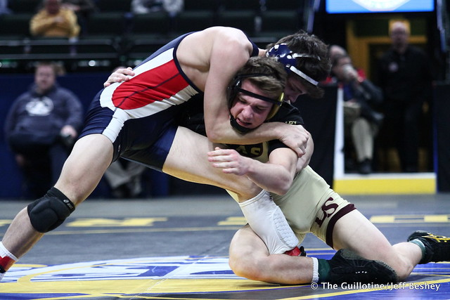 3rd Place Match - Brody Nielsen (Albert Lea Area) 45-7 won by decision over Willie Bastyr (Lakeville South) 33-7 (Dec 8-7). 180303BJF0237
