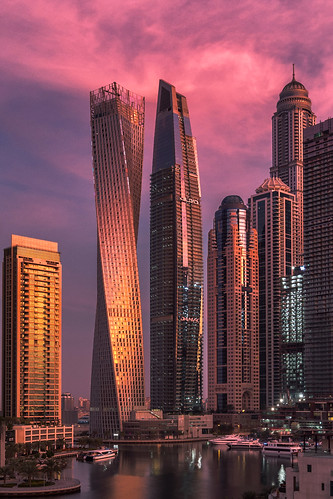 Cayan Tower sunrise