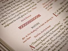 matins book