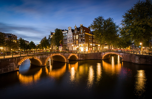 Keizersgracht during the blue hour