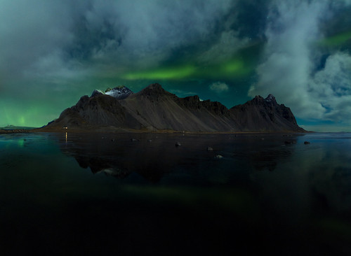 Northern lights in Stokksnes