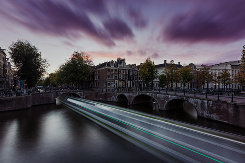 Sunset in Amsterdam