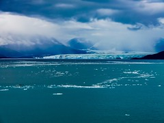 Glaciers in the Distance in Alaska, USA during Summer.
