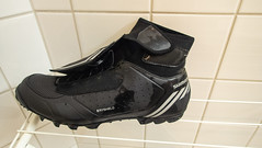 Wet and dirty ride today...first ride with new shoes...worked well, kept me dry and varm!