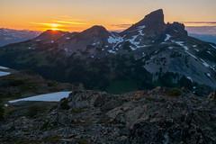 Black Tusk sunset from Panorama Ridge