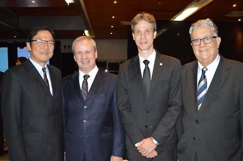 Osamu Nakagawa, Sérgio Leite, Cláudio Zambaldi  e José Osmir de Castro