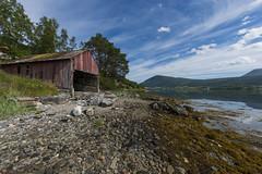 Idyllic norwegian fjord