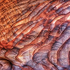 Petra's sandstone a Wonder of nature