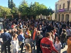 """""""Protocols especifics i per sobre de tot humanitat i persones"""". Avui. Plaça de la Vila. Contra els abusos i agressions sexuals. I al costat de les víctimes. #noésno #Tiana #elpoblesalvaelpoble"""