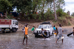 Carwash in the river