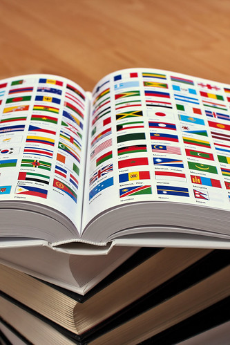 Encyclopedia pages showing world flags