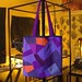 the purple patchwork tote