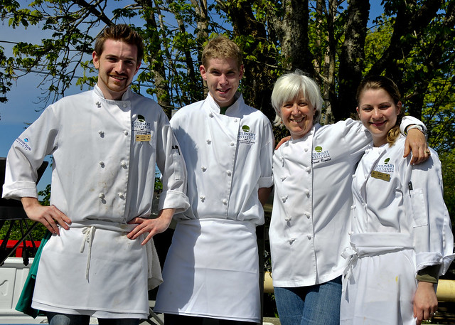 Chef Shore and Students