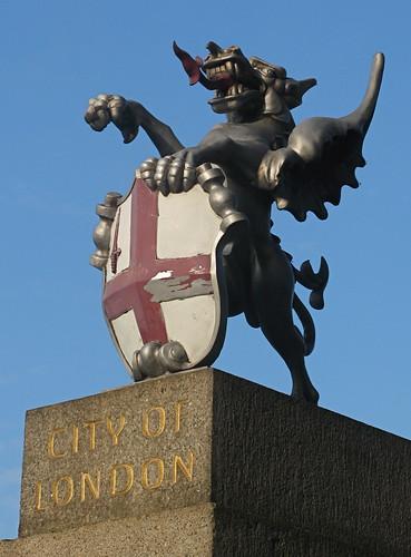 City of London Dragon, London Bridge by Thorskegga