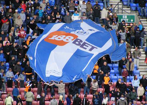 Wigan shirt banner, Wigan Athletic vs Hull City, 3 May 2010