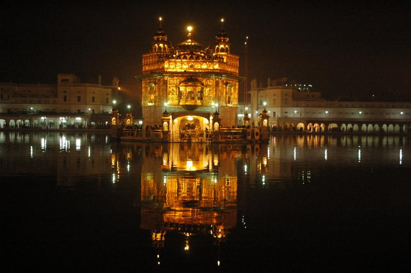Golden Temple seen from the opposite side of the entrance