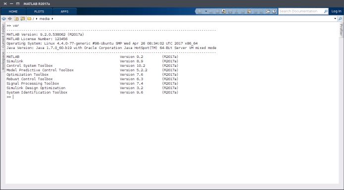 Working with Mathworks Matlab R2017a build 9.2.0.538062 Linux 64bit full license
