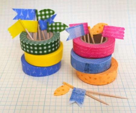 washi tape food picks