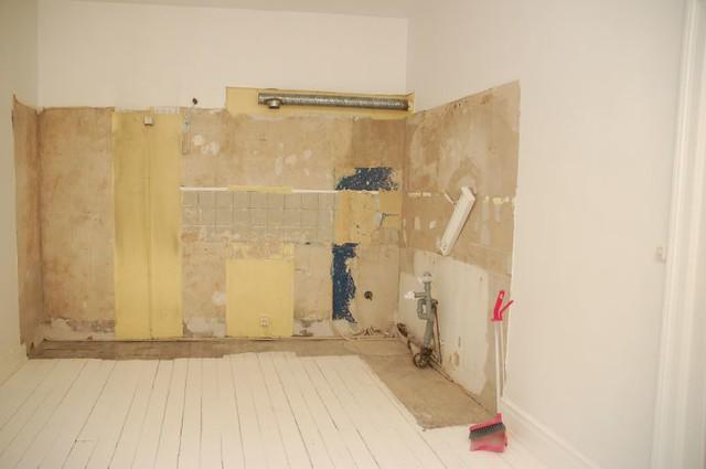 Gutted kitchen - blank canvas