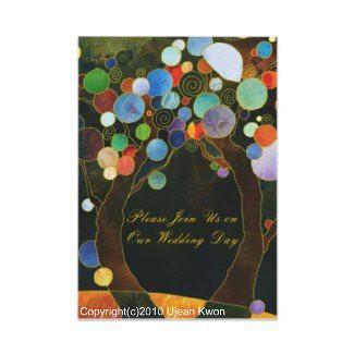 Love Trees(in Blue): Custom Wedding Invitation