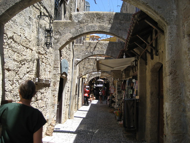 Arches and alleys, Rhodes, Greece 2008