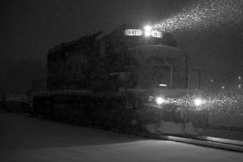 Heading into the blizzard