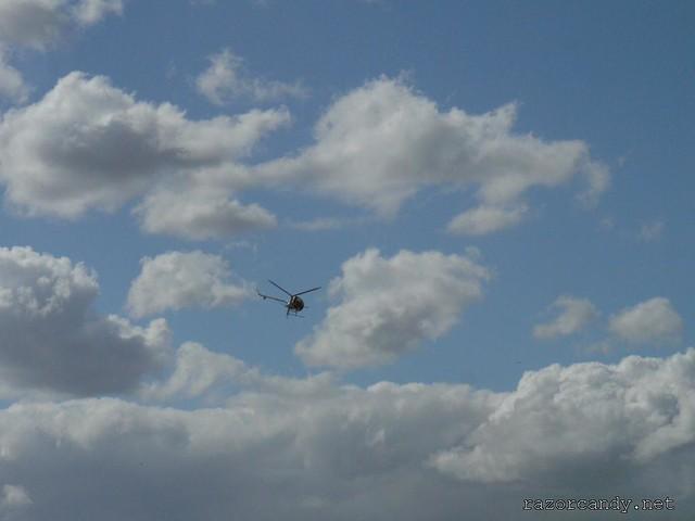 7 P1080637 Schweizer Helicopter {G-BWAV} _ City Airport - 2008 (5th July)
