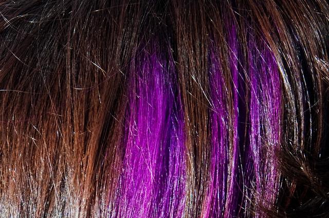 purple streaks