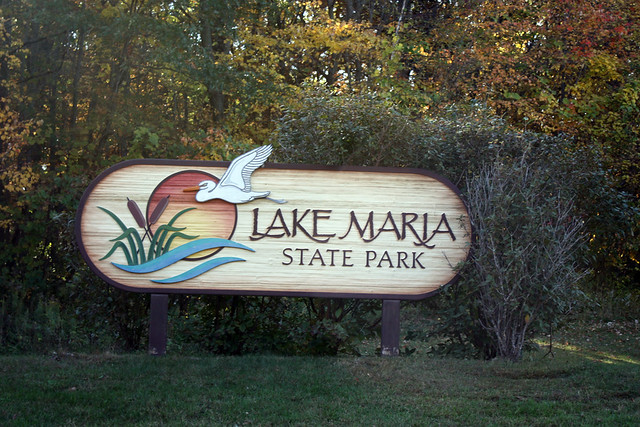 Sign at the entrance to Lake Maria State Park