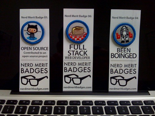 My Nerd Merit Badges arrived!