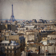 Rita Crane Photography: Paris / architecture / rooftops / texture / cityscape / Le Marais / Eiffel Tower & Rooftops, Paris