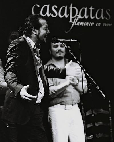 """""""Rafita"""" cantando en el tablao de Casa Patas. Foto: Martín Guerrero"""
